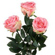 Roses déco en mousse et en soie