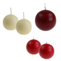 Bougies sphériques et rondes