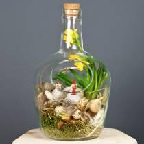 Bouteille en verre contenant décoratif en liège Ø19cm H30cm