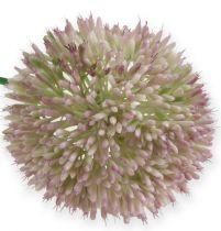 Fleur de soie artificielle Allium vert, oignon ornemental rose comme fleur artificielle
