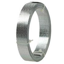 Ruban aluminium fil plat argent mat 20mm 5m