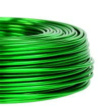 Fil en aluminium Ø 2 mm 500 g 60 m vert pomme