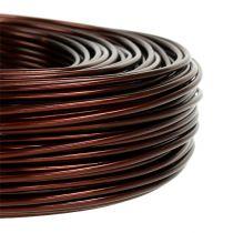 Fil en aluminium Ø 2 mm 500 g 60 m brun