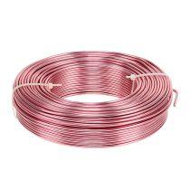 Fil en aluminium Ø 2 mm 500 g 60 m rose