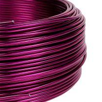 Fil en aluminium Ø 2 mm rose fuchsia 500 g (60 m)