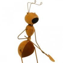 Décorations de jardin, goujons en métal de fourmi, goujons de plante en acier inoxydable, fourmi avec pelle