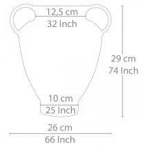 Amphore aspect antique pour vase à planter en métal décoration de jardin H29cm