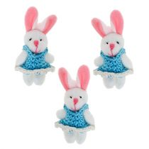 Suspension lapin 5,5 cm bleu 9 p.