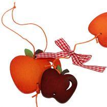Guirlande de pommes rouges 86 cm 3 p.