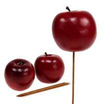 Pomme artificielle rouge Ø7,5cm 6pcs