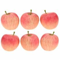 Décoratif rose pomme, jaune Real-Touch 6,5 cm 6 pièces
