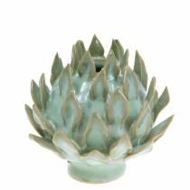 Vase décoratif art choc céramique vert Ø9.5cm H9cm