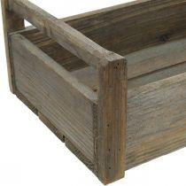 Boite en bois boite artisanale Boite décorative Shabby en bois 47 × 28,5 × 16,5cm
