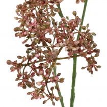 Branche décorative en fleurs 38 cm 3 p.