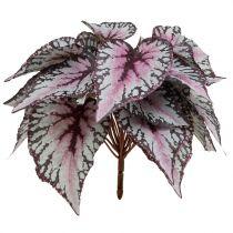 Bouquet de bégonia artificiel bordeaux 37 cm