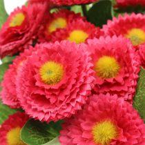 Bouquet de pâquerettes fuchsia 24 cm 4 p.