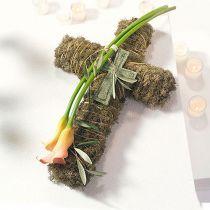 Croix en mousse florale Vert 42cm 4pcs Pour arrangement funéraire