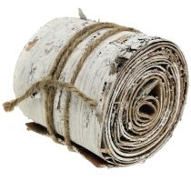 Rouleau d'écorce de bouleau blanchi à la chaux 10cm x 2,5m