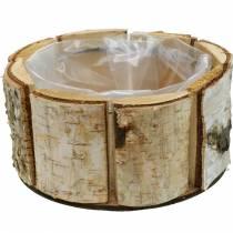 Jardinière en bouleau naturel Pot en bouleau Jardinière ronde en bois Ø13cm