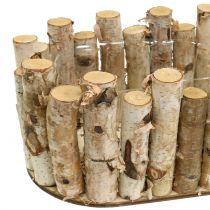 Cache-pot ovale bouleau 30,5cm x 13cm