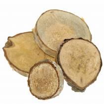 Tranches de bouleau rondes naturelles 5cm 1kg pour décoration avec écorce
