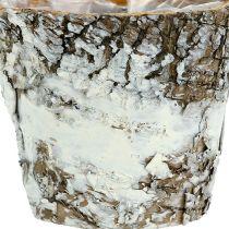 Mini pot en bouleau blanc Ø 7 cm H. 7 cm