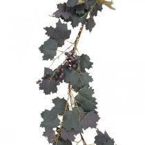 Guirlande décorative feuilles de vigne et raisins guirlande d'automne 180cm