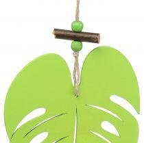 Feuille à suspendre vert clair 14,5 cm