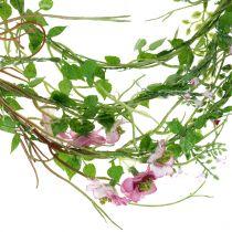 Guirlande de fleurs rose 180cm