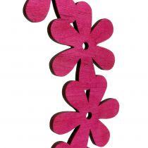 Couronne de fleurs en bois fuchsia Ø 35 cm 1 p.