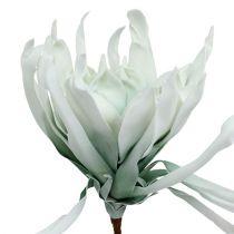 Branche de fleurs en mousse en blanc/vert 72cm