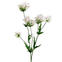 Branche en fleurs L. 70 cm blanc