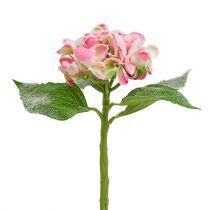 Hortensia rose neigeux 33cm 4pcs