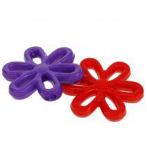 Fleurs Ø 3 cm avec trou, divers coloris 135 g