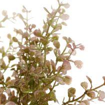 Branche de buis scintillante rose et fuchsia 32 cm