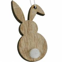 Cintre lapin de Pâques coloré en bois de décoration de Pâques 12pcs