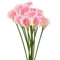 Calla fleur décorative rose 57 cm 12 p.