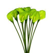 Calla vert artificiel 8cm L57cm 12pcs