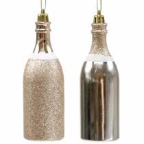 Bouteille de champagne à suspendre or pâle 10 p.