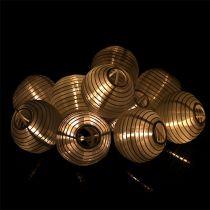 Guirlande de lanternes chinoises blanche avec 20 LED 9,5 cm