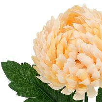 Chrysanthème factice pêche Ø 7 cm L. 18 cm