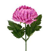 Chrysanthème factice fuchsia Ø 7 cm L. 18 cm
