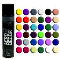 Spray de couleur soie mat diverses couleurs 400ml
