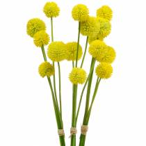 Drumstick Craspedia Jaune Fleur De Jardin Artificielle Fleurs En Soie 15pcs