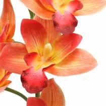 Orchidée fleur artificielle Cymbidium Orange 74cm