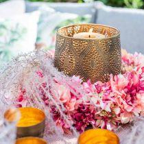 Couronne de fleurs de dahlia rose, crème Ø42cm