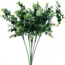 Branche d'eucalyptus décorative vert foncé Eucalyptus artificiel Plantes vertes artificielles
