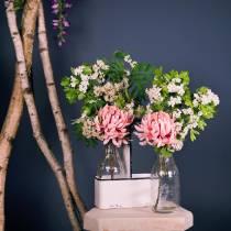Bouteilles décoratives vases dans support en métal H. 25 cm