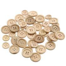 Boutons de décoration nature 1,5 - 2,5 cm 150 p.