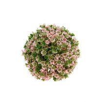 Boule déco rose-vert Ø12cm 1p